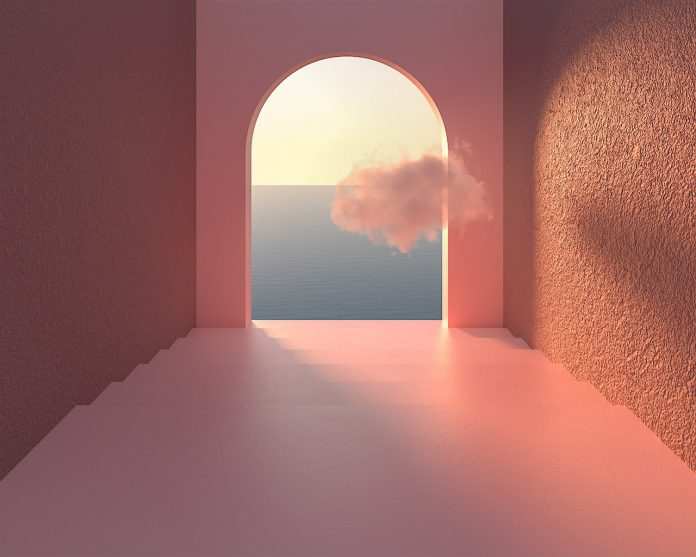 Visual Escapism II, Somewhere in the World, 2020 - dreamlike surreal 3D worlds created by Minjin Kang and Mijoo Kim of Mue Studio.