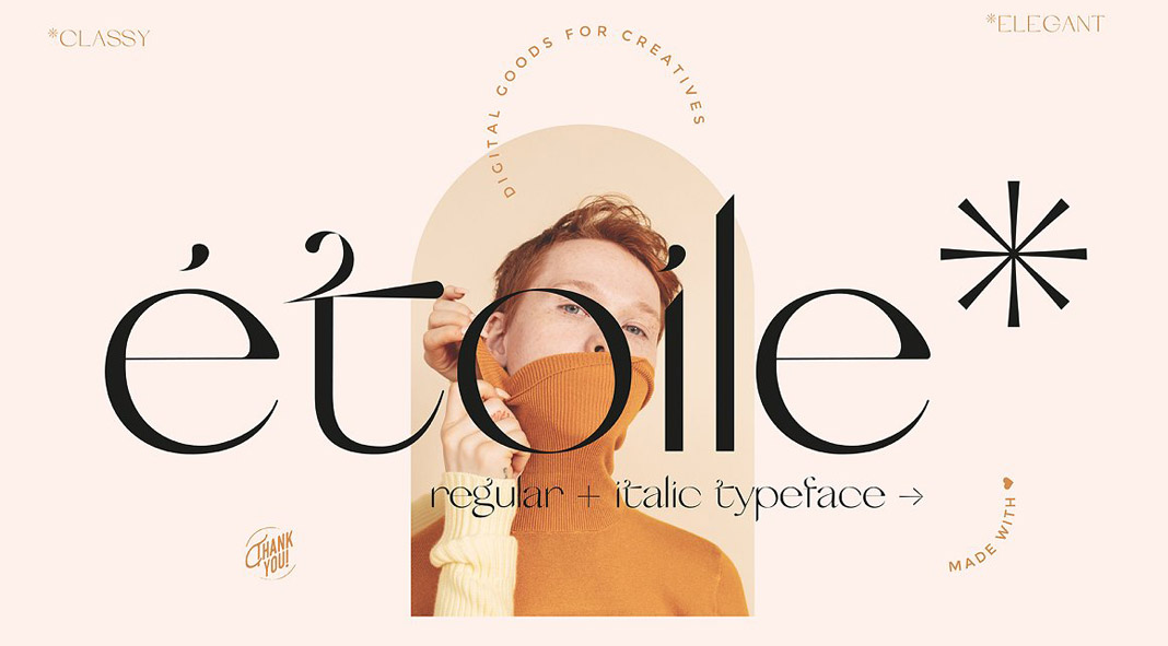 Etoile, a modern and elegant font.
