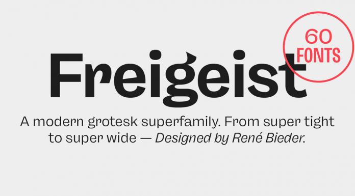 Freigeist font family by German typeface designer René Bieder.
