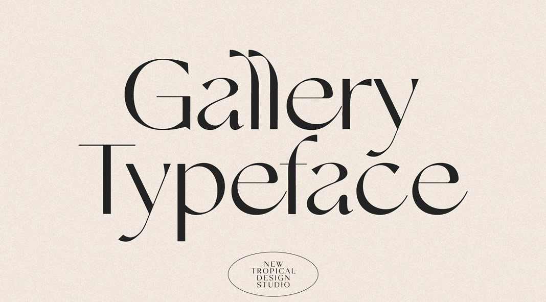 Gallery Typeface from New Tropical Design.