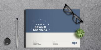 Minimalist Brand Identity Brochure Template for Adobe InDesign