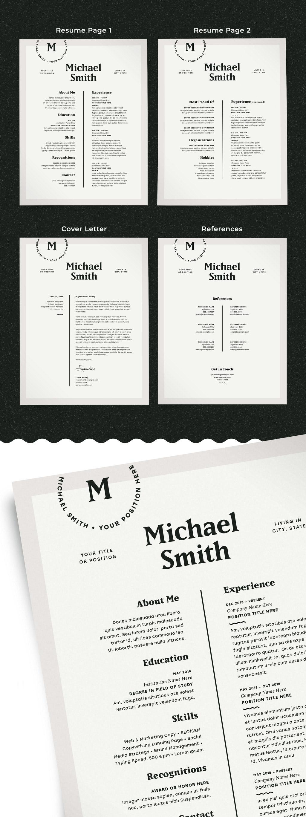 Modern Resume Layout Kit