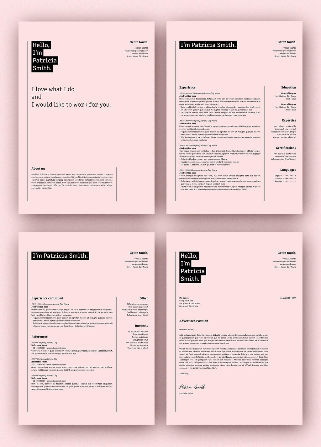 Resume Set with Rectangular Elements