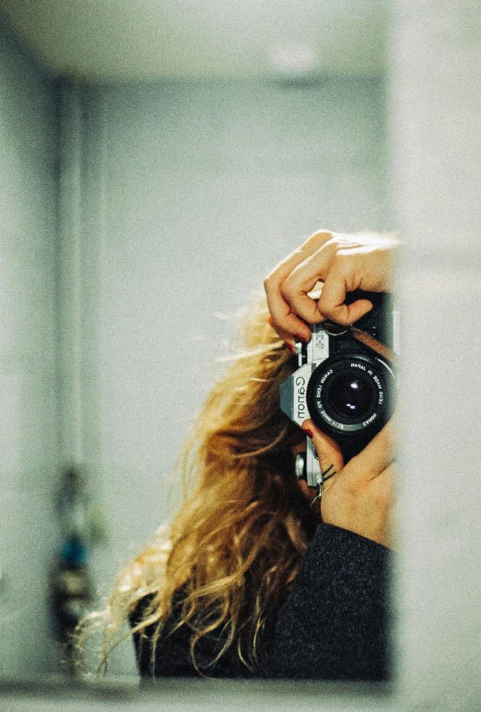 Self-portrait of French photographer Tiffany Roubert.