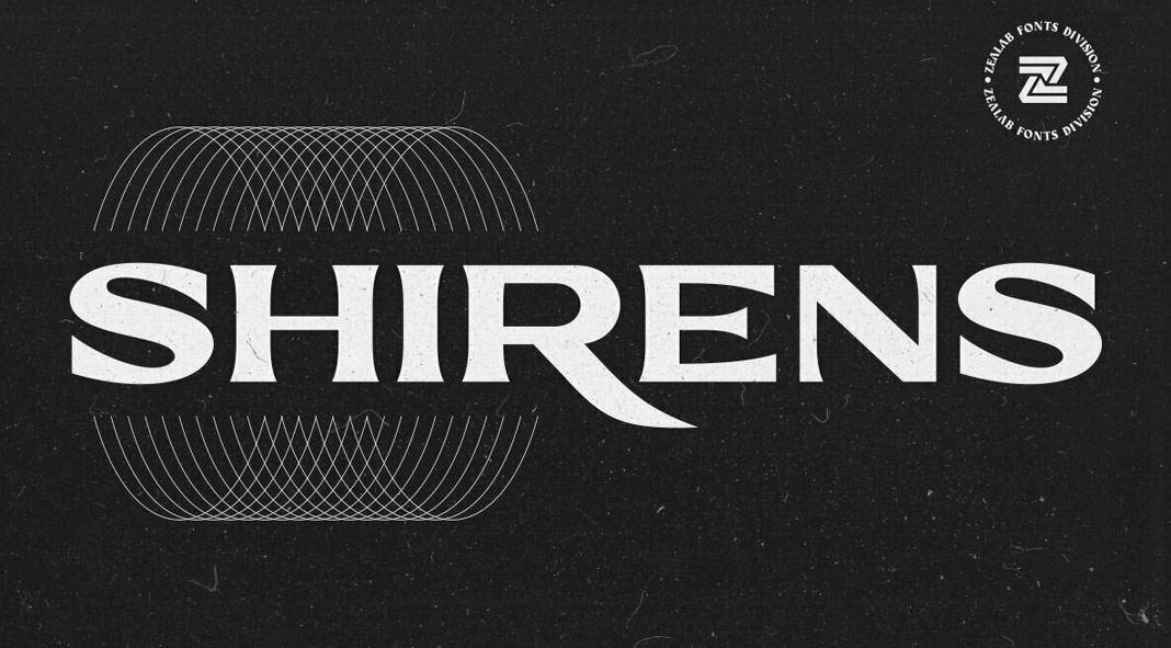 Shirens font by Reza Rasenda.