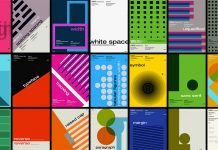 Swiss Graphic Design inspired Posters based on the Adobe Fonts Glossary Typography Terms.