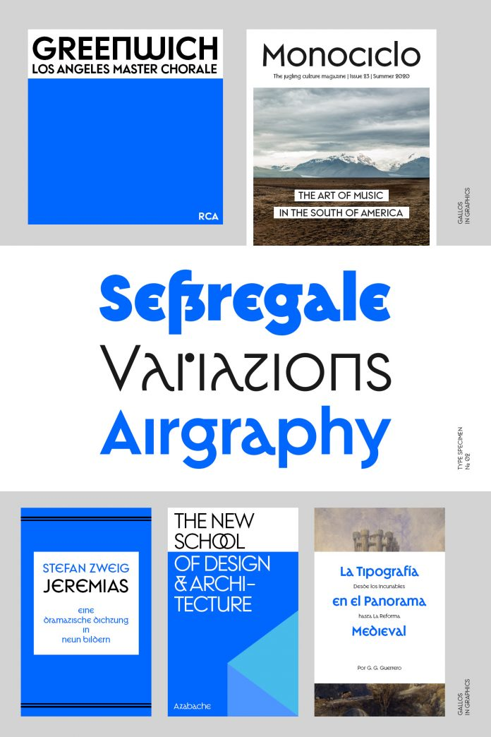 Gallos font family by W Foundry.