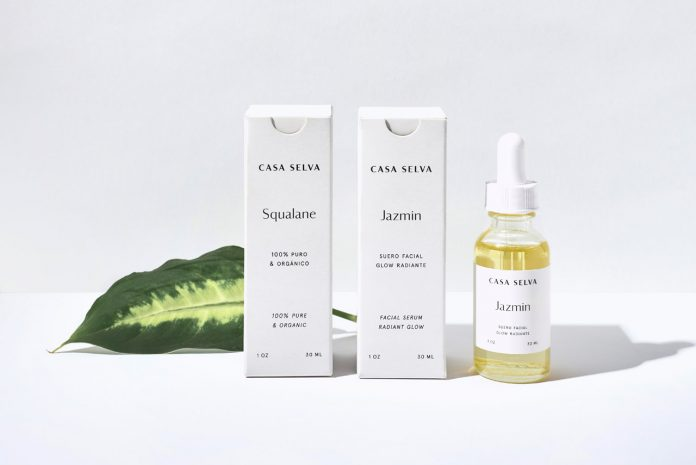 Brand and packaging design created by graphic design studio Menta for the skincare line Casa Selva.
