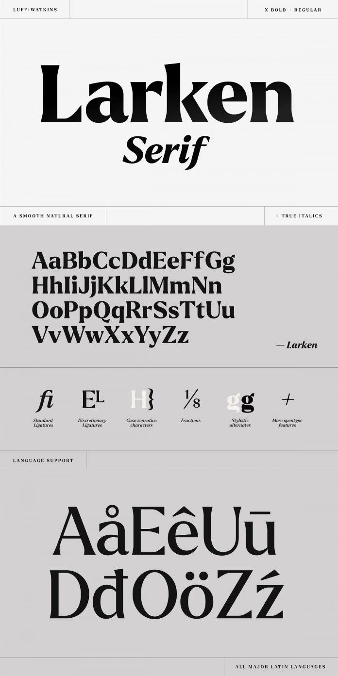 Larken Serif Font by Ellen Luff.