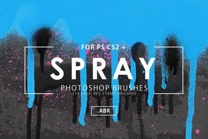 214 Spray Paint Photoshop Brushes