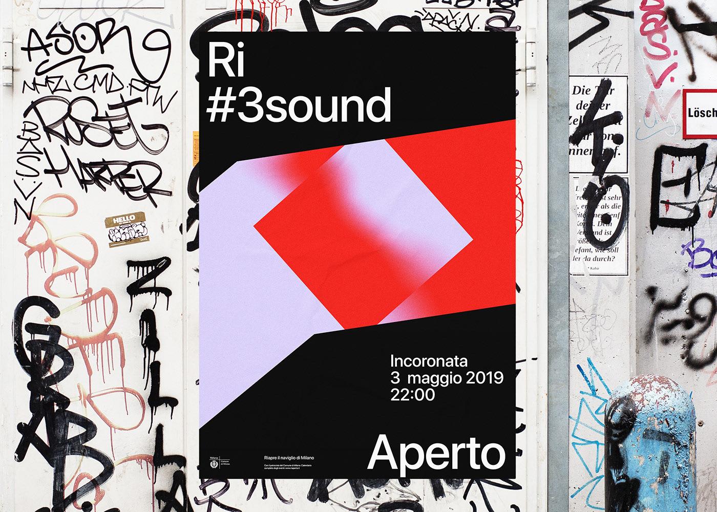RiAperto festival branding by Andrea Bianchi.