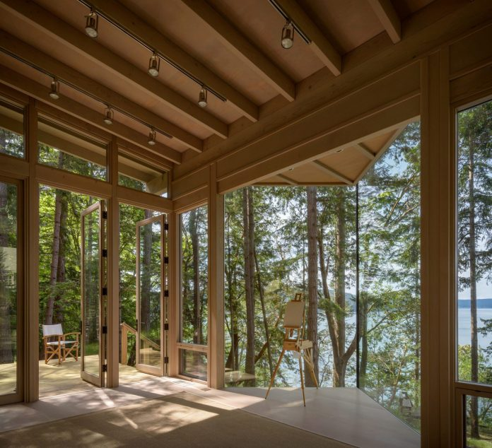 Blakely Island Artist Studio designed by American architect Olson Kundig.