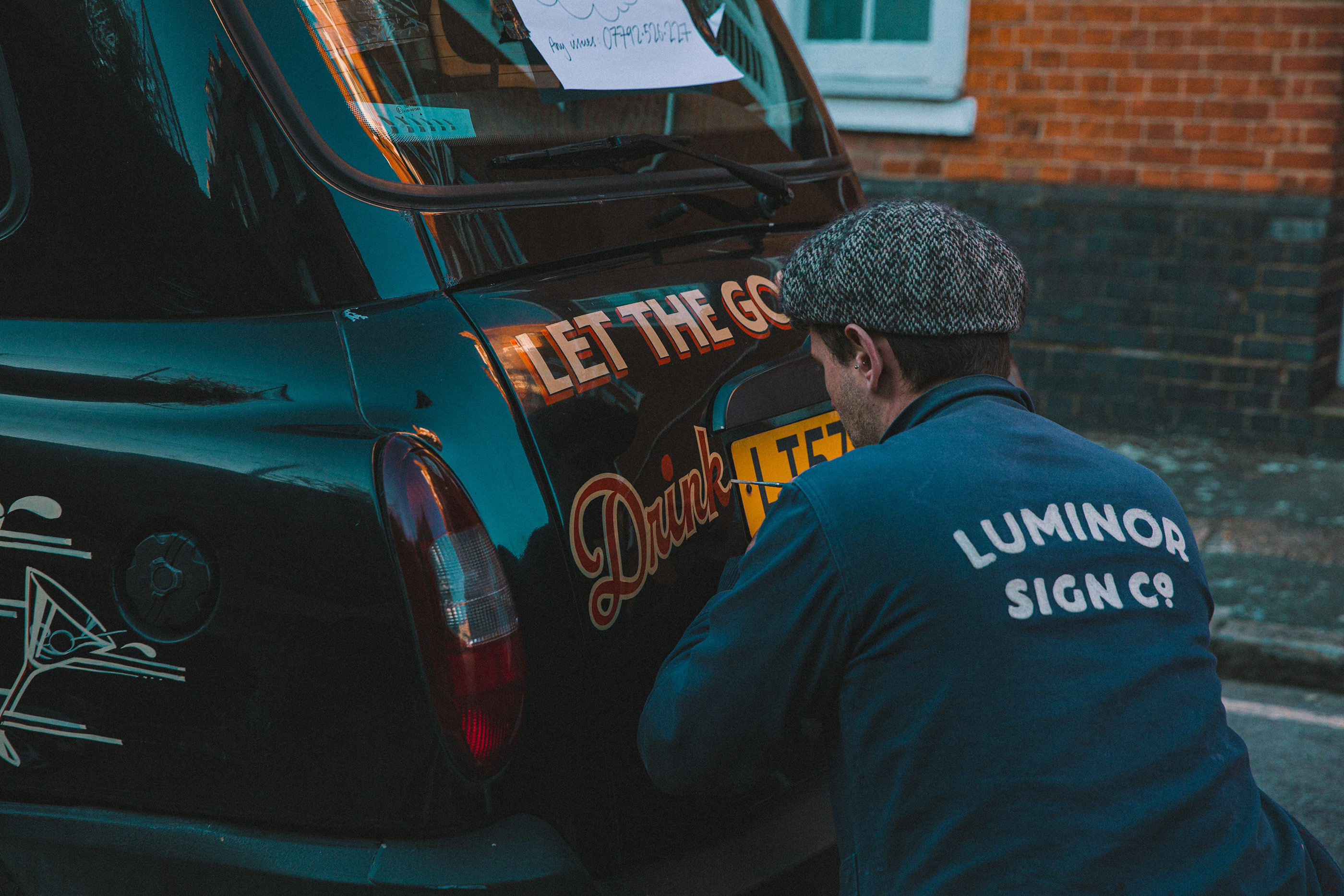 The Sherbert Dab—handmade sign painting and lettering by The Luminor Sign Co.