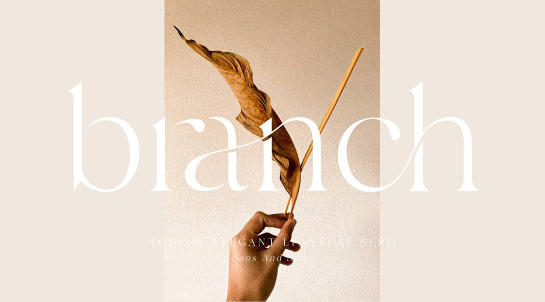 Branch, an elegant ligature font from Sans & Sons.