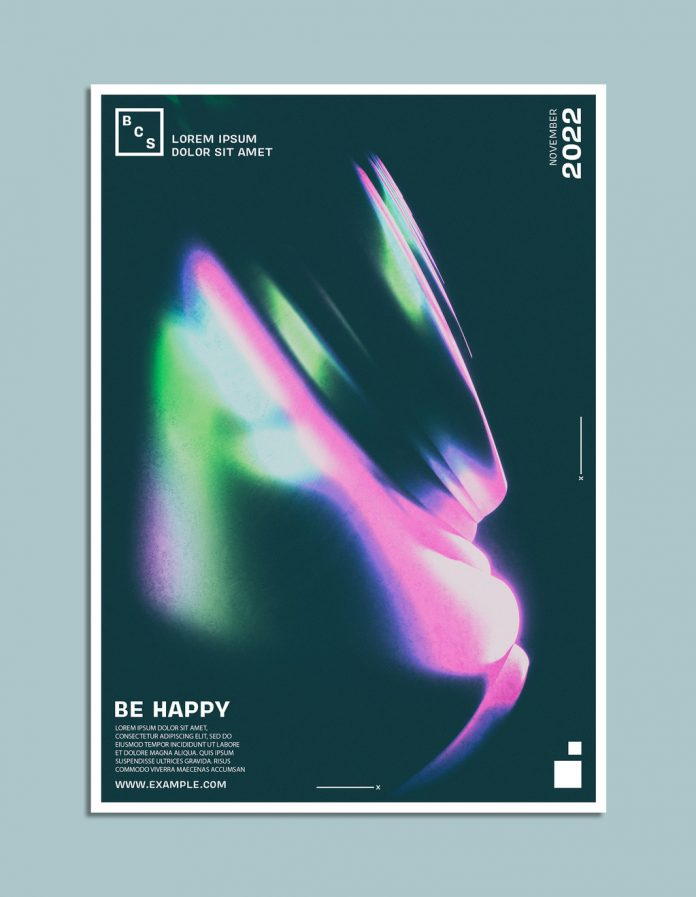 Event Poster Template with Colorful Abstract Design