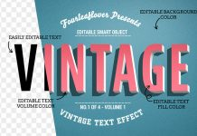 Four of the best vintage text effects for Adobe Photoshop.