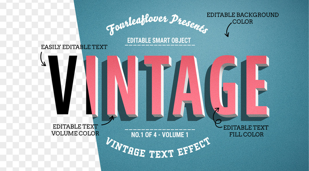 Four of the Best Vintage Text Effects for Adobe Photoshop