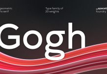 Gogh font family by Spacetype.