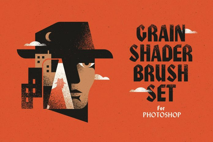 Grain Shader Brush Set for Photoshop