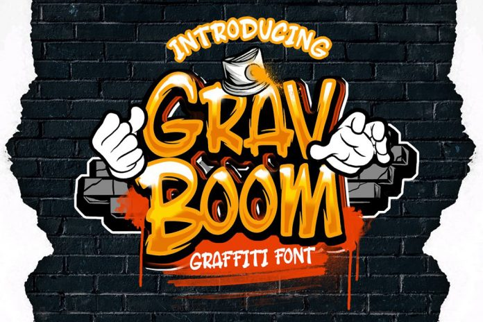 GravBOOM graffiti font