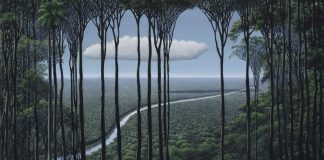 Paintings of landscapes by Tomas Sanchez.