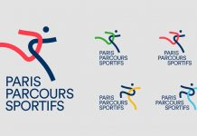 Paris Sports Courses: visual identity design by Graphéine.