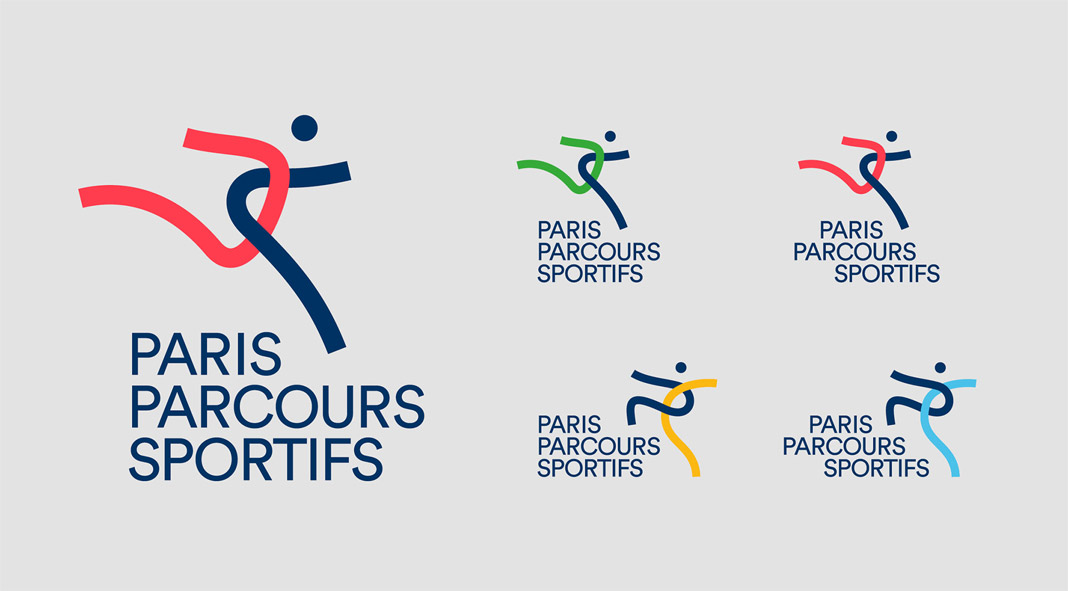 Paris Sports Courses: visual identity design by Graphéine.