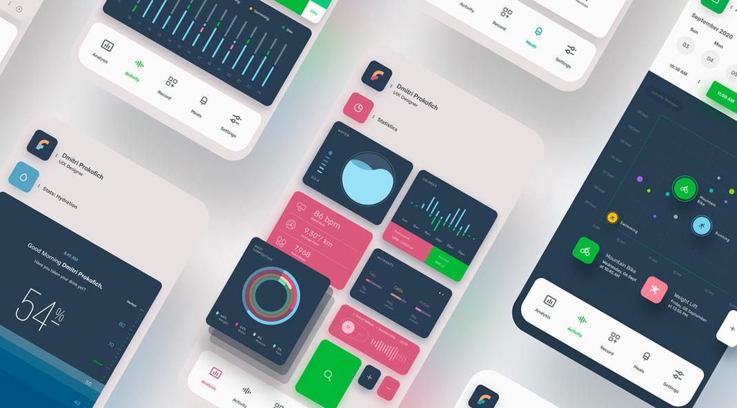 Smartphone Mobile App Ui Template for Adobe Illustrator