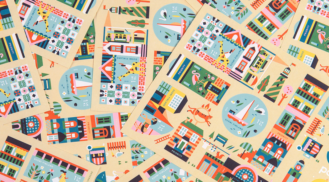 Stamp illustrations by Lotta Nieminen for the Finnish Post.