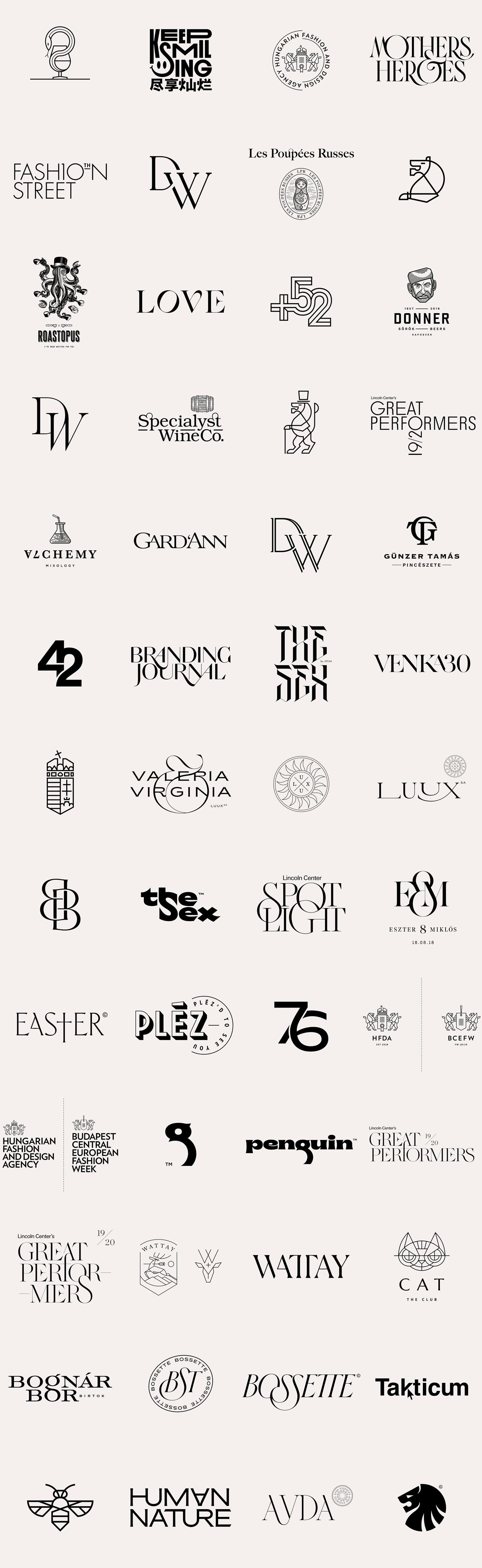 52 logos by graphic designer Miklós Kiss.