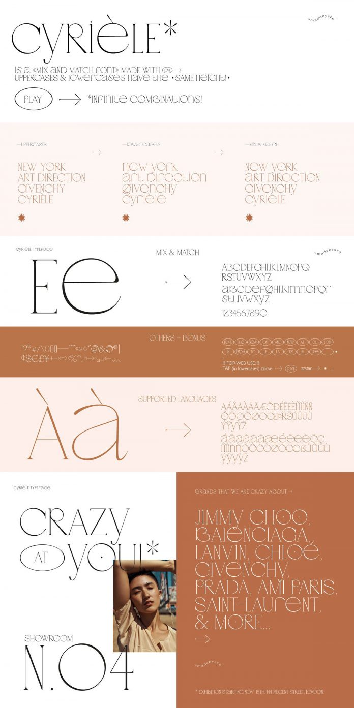 Cyriele - Elegant Display Serif Font by Madebysté Studio