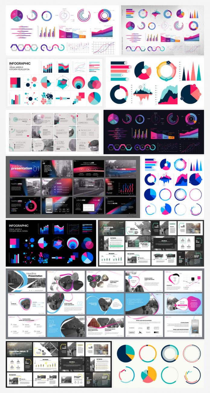 Infographics and presentation templates.