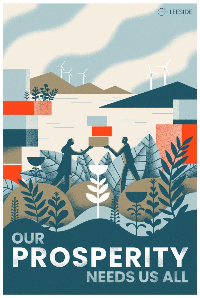 Leeside poster illustration by Matt Chinworth