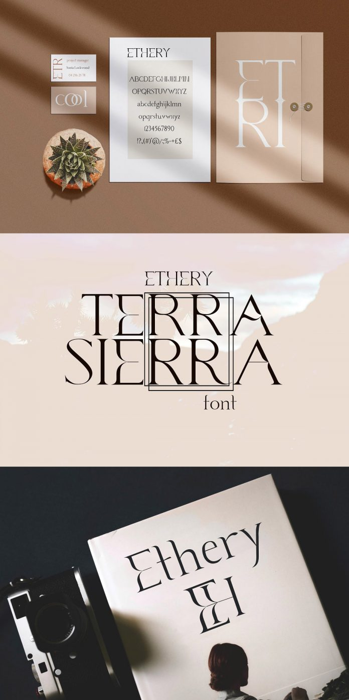 Ethery font by LABFcreations.