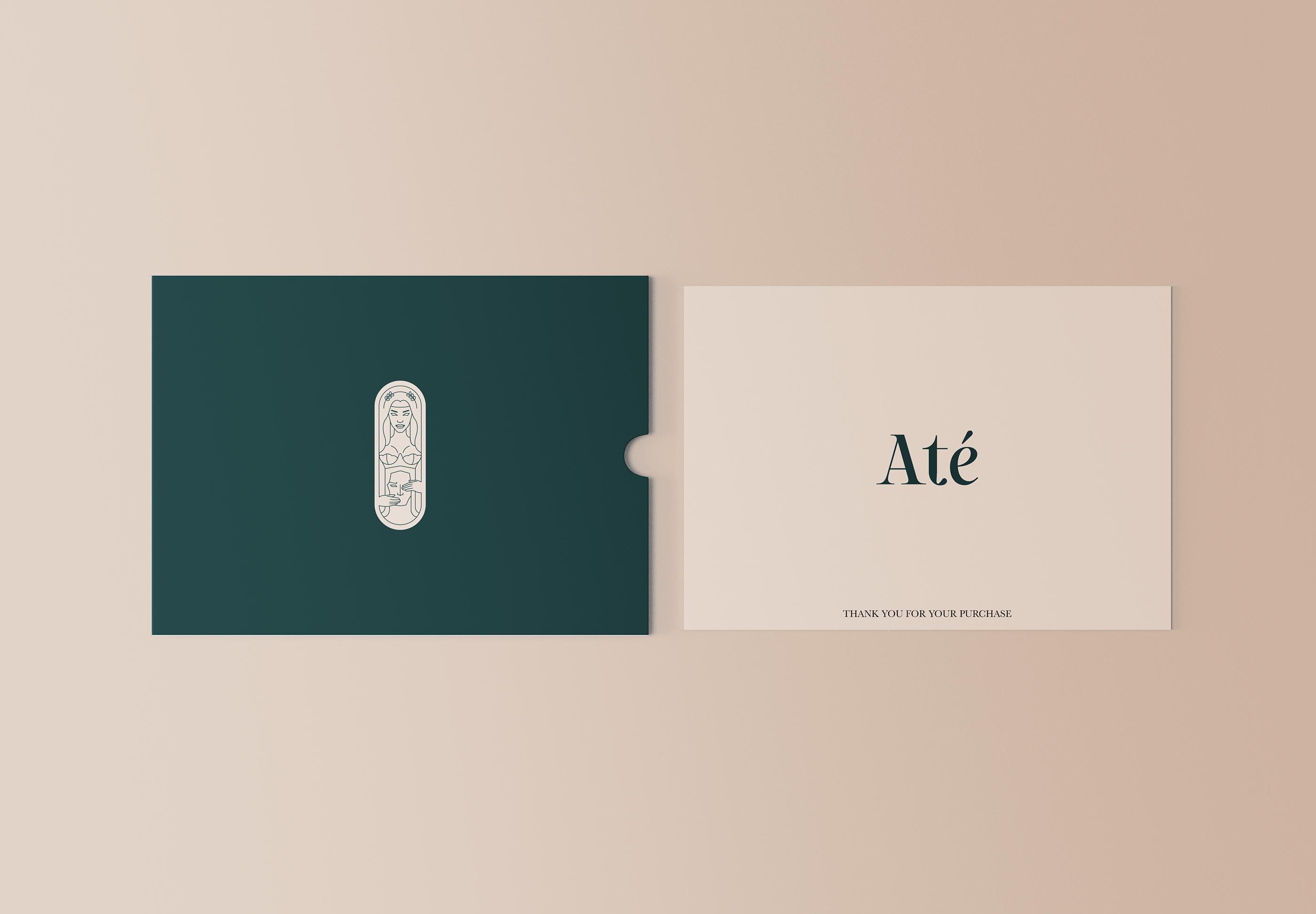 Até Lingerie brand concept by graphic design student Thao Tran.