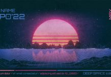 80s Retro Sci-Fi Poster and Flyer Templates for Adobe Photoshop