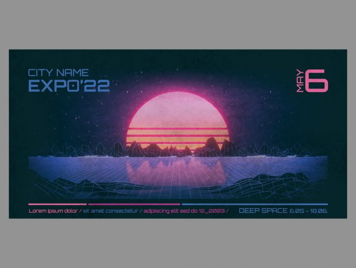 80s Retro Sci-Fi Flyer Template