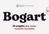 Bogart font family from Zetafonts.