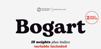 Bogart font family from Zetafonts.