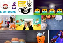Halloween COVID-19 design templates 2020.