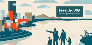 Leeside poster illustration by Matt Chinworth
