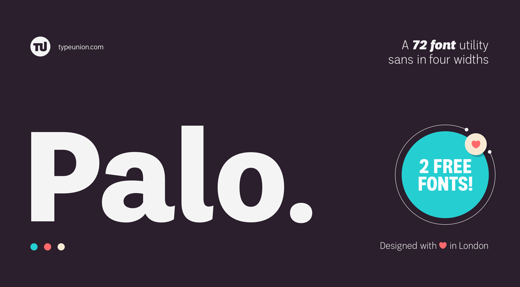 Palo font family by TypeUnion.