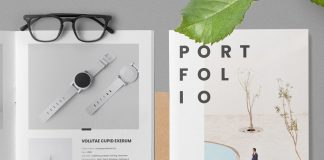 Portfolio Adobe InDesign template.