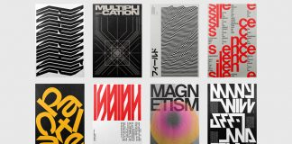 Posters vol. II, a selection of graphics from Xtian Miller's weekly typographic poster exercises