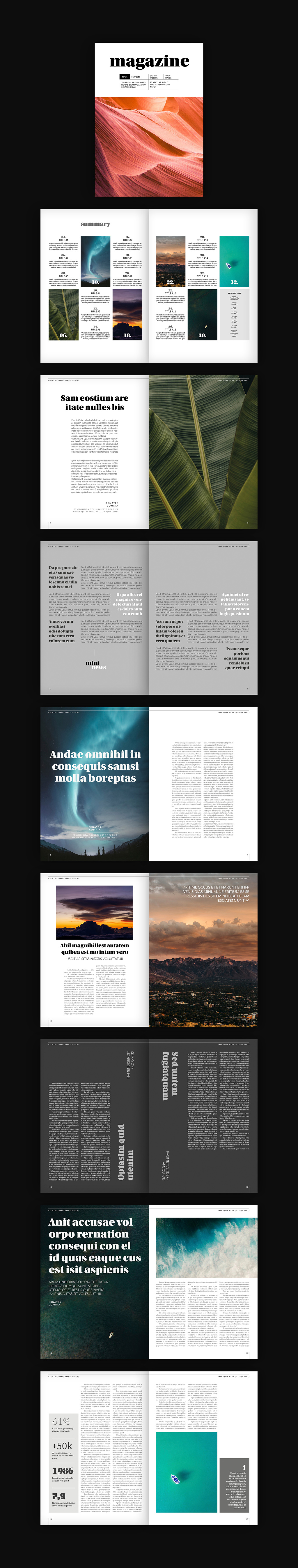 Adobe InDesign magazine template by Tom Sarraipo.