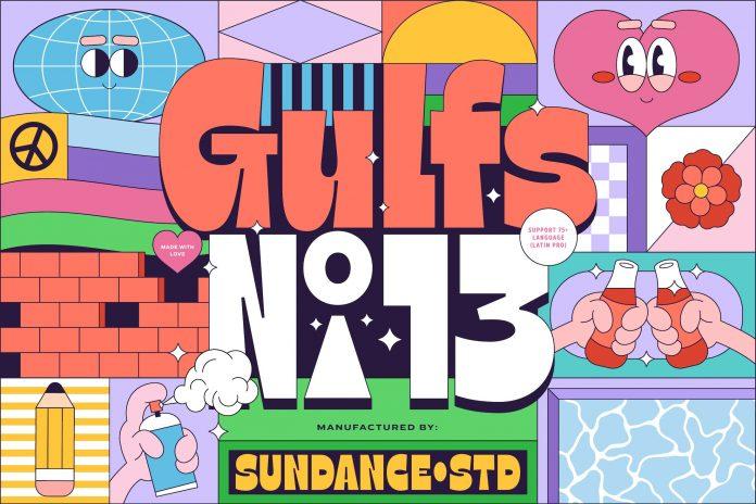 Gulfs Display Font by Studio Sun