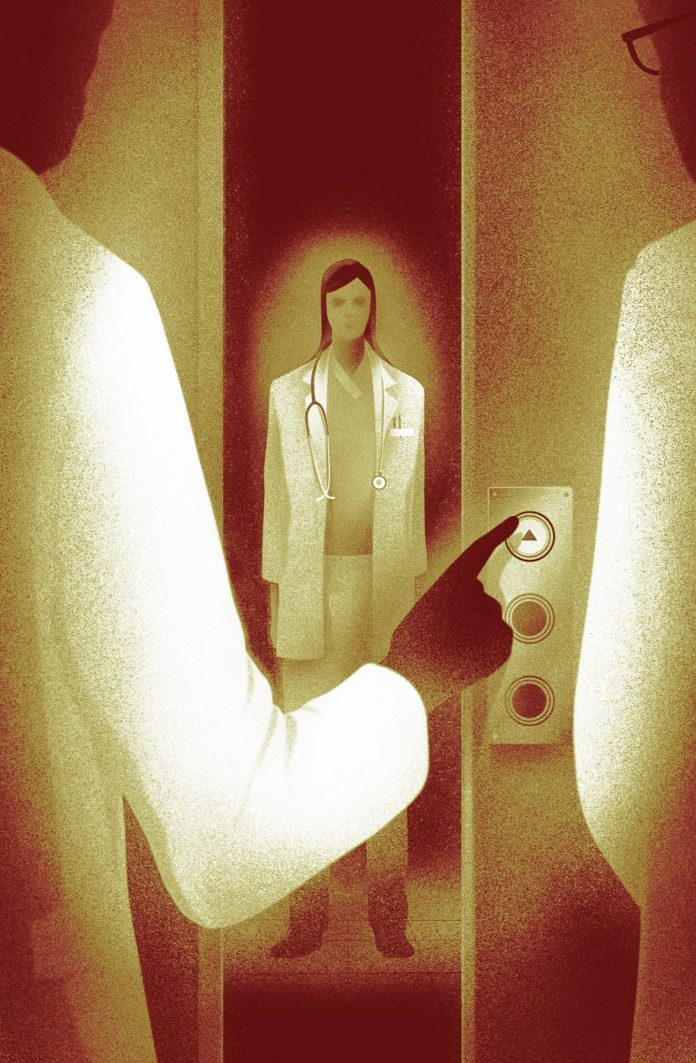 Illustration by Daniel Stolle for a three-part investigative series in Neue Zürcher Zeitung about problems in the Swiss hospital system.