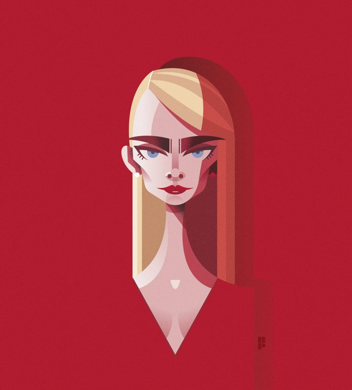 Illustrated celebrity portraits by Ricardo Polo.