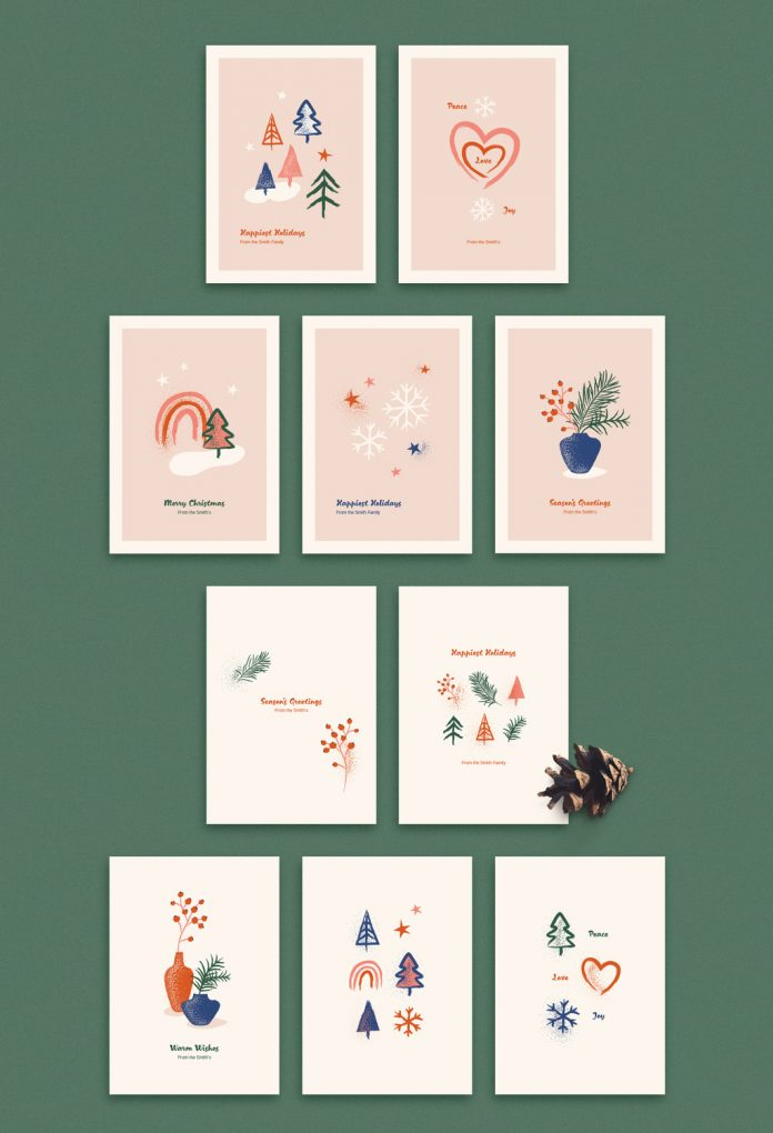 You can purchase this holiday card set with illustrations here.