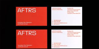 AFTRS branding by international design consultancy M35.